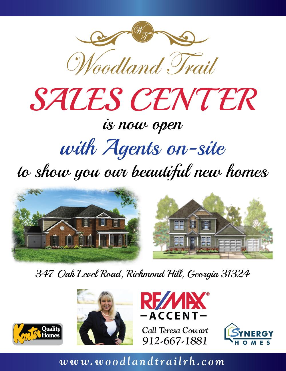 Sales Center Woodland Trail now open